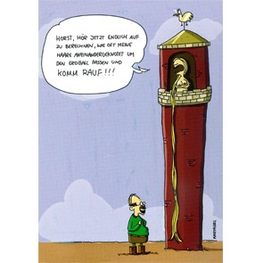 "Postkarte - Mathe macht lustig ""Rapunzel"""