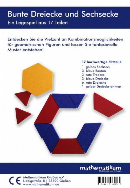 Bunte Dreiecke und Sechsecke